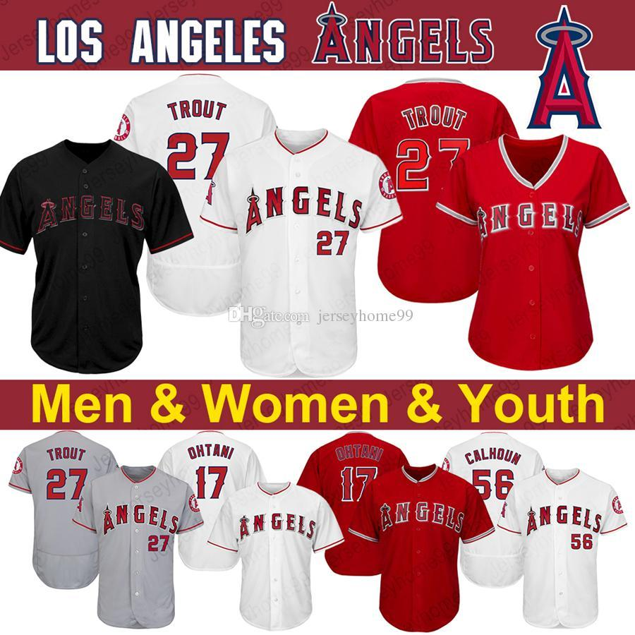 new arrivals d6847 460f9 Los Angeles Mike Trout Angels Jersey Vladimir Guerrero Shohei Ohtani Zack  Cozart Andrelton Simmons Albert Pujols Harvey Baseball Jerseys