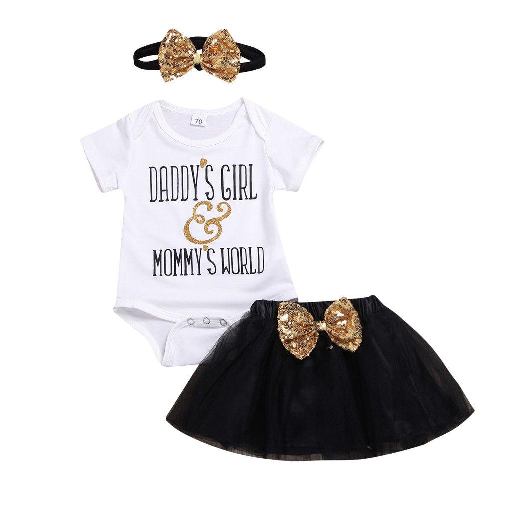 532ad13fc041 2019 2019 Casual Summer Newborn Infant Kids Baby Girl Short Sleeve ...