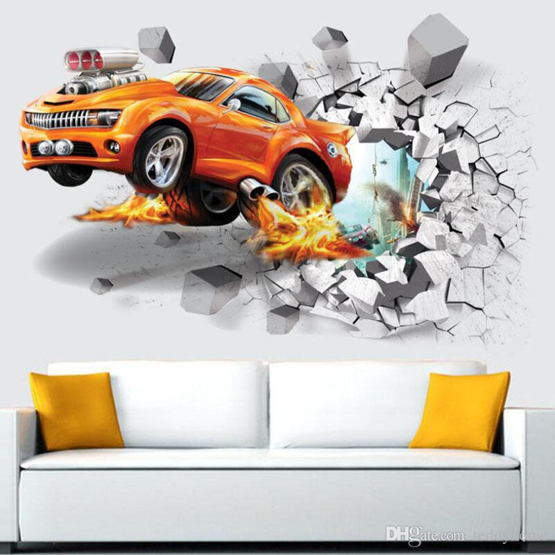 Football Soccer Ball Wall Decals Art Wall Stickers For Kids Rooms Decoration Creative Car Wall Stickers