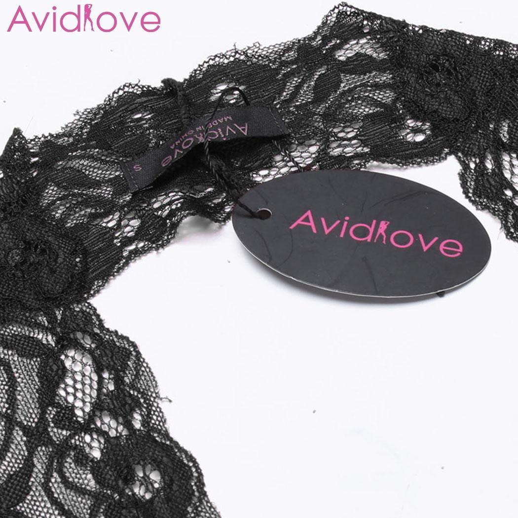 Avidlove Sexy Lingerie Body Erotic Underwear Vêtements de Nuit Femmes Sexy One Piece Lingerie Body Halter Lace Teddy Nightwear