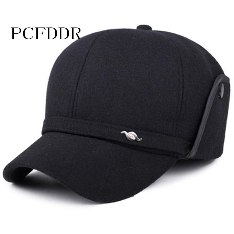 81a3cbdd4fe PCFDDR Old Men's Hat, Autumn Winter, Men's Cap And Ear Cap Baseball ...