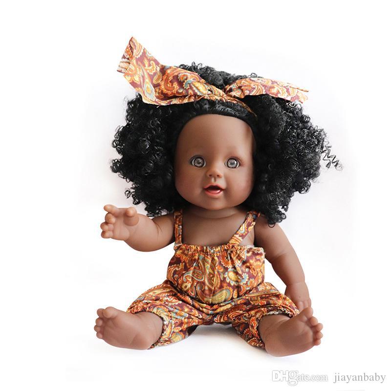 Negros De Para Pulgadas Muñecas Simulación Vinilo Niños Silicona Africano12 Lol Juguetes Recién Muñeca Hombres Nacido 2IEDWH9