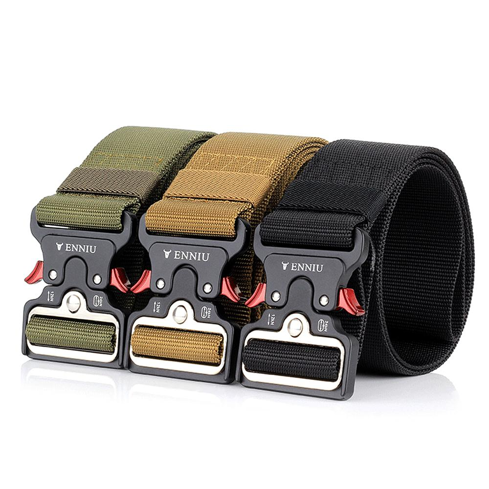 Quick Release Tactical Belt Heavy Duty Waist Band Camping Climbing Training  Waist Belt Sports Army Adjustable Waistband