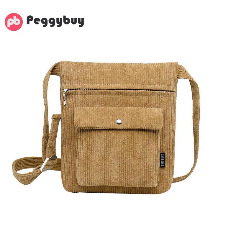 bea1d637a57d Unixex Crossbody Bags Corduroy Shoulder Messenger Handbags Women Men ...