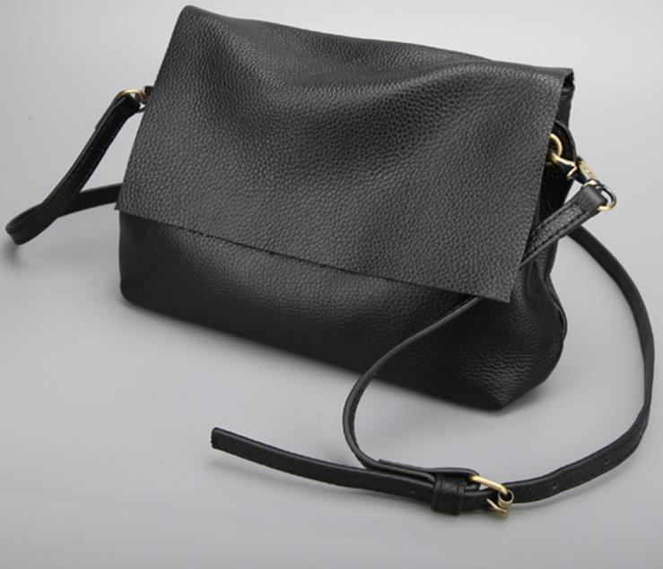 Genuine Leather Women Shoulder Bag Fashion Solid Large Capacity Female  Crossbody Messenger Bag Famous Brand Casual Party Purse Laptop Messenger  Bags Purses ... dae48ad65647e