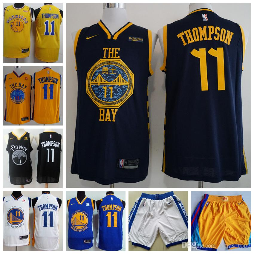 ... order 2019 mens 11 klay thompson golden state jersey warriors  basketball jerseys stitched new city edition 2b7028872
