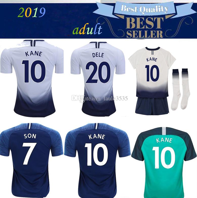 e48f79d34 2019 Top Thailand Quality KANE Spurs Soccer Jersey 2018 2019 LAMELA ERIKSEN  DELE SON Jersey 18 19 Football Kit Shirt Men And KIDS KIT SET Uniform From  ...