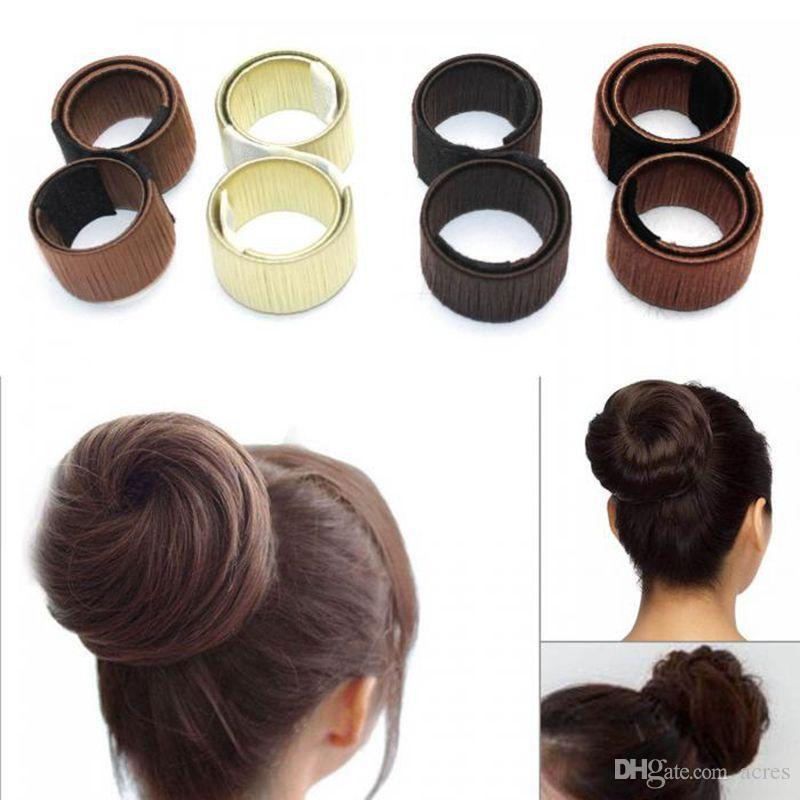 Acquista Fashion Girl Francese Fermaglio Capelli DIY Strumenti Lo Styling  Dei Capelli Donut Ex Schiuma Francese Twist Magic Bun Maker A  0.4 Dal  Acres ... df664081b35f