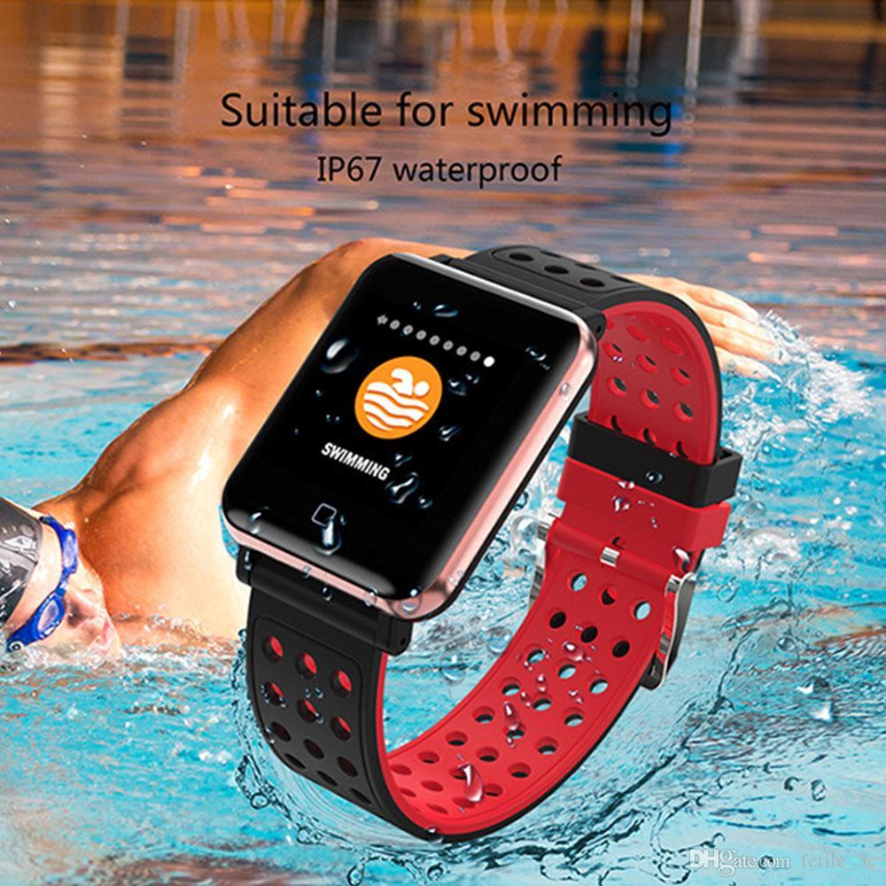 5f50839b601b Comprar Reloj Presión Arterial 2018 Smart Watch Hombres Ritmo Cardíaco Reloj  Deportivo Medidor De Pulso Pulsera De Natación Impermeable Reloj Bluetooth  Para ...