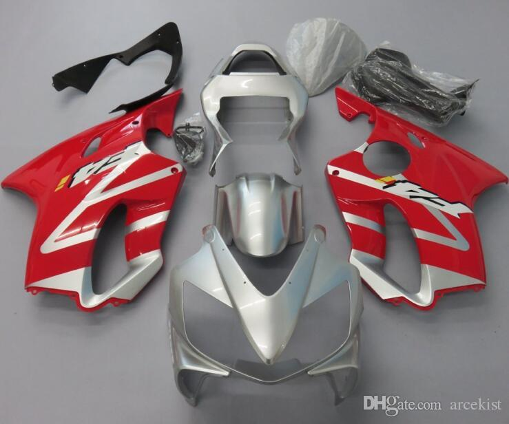 4Gifts New Injection Mold ABS Fairing kits Fit for HONDA CBR 600 F4i fairings 2001 2002 2003 CBR600 FS F4i body 01 02 03 red silver