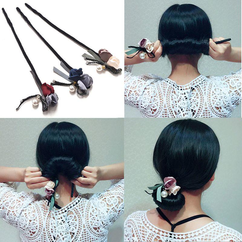Flower Hair Accessories Magic Bun Maker Girl Donut Device Quick
