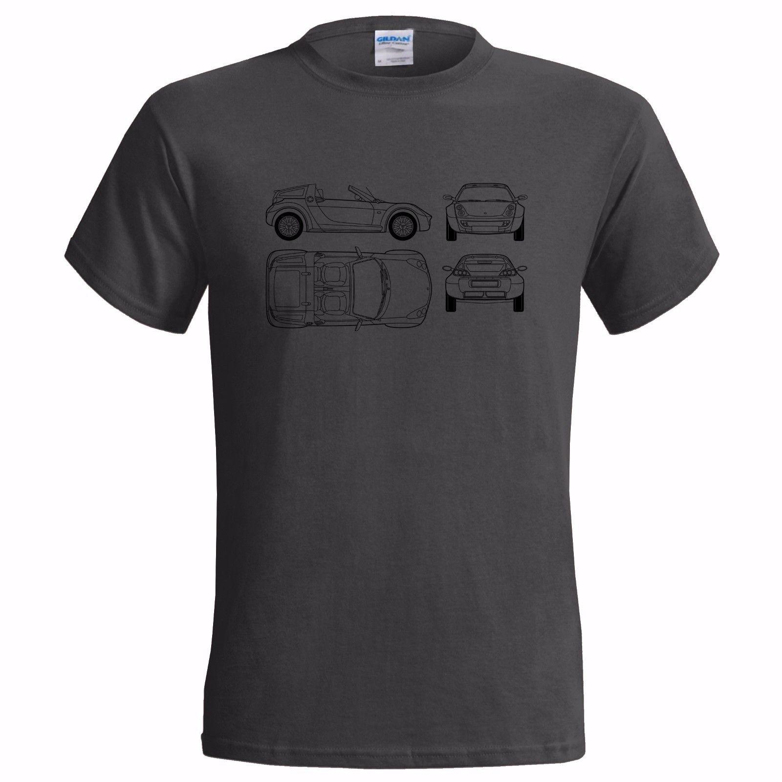 Unofficial Tech Drawing SMART ROADSTER MENS T SHIRT CLASSIC CAR SPORTS SPORT FASTHOUSE Musically