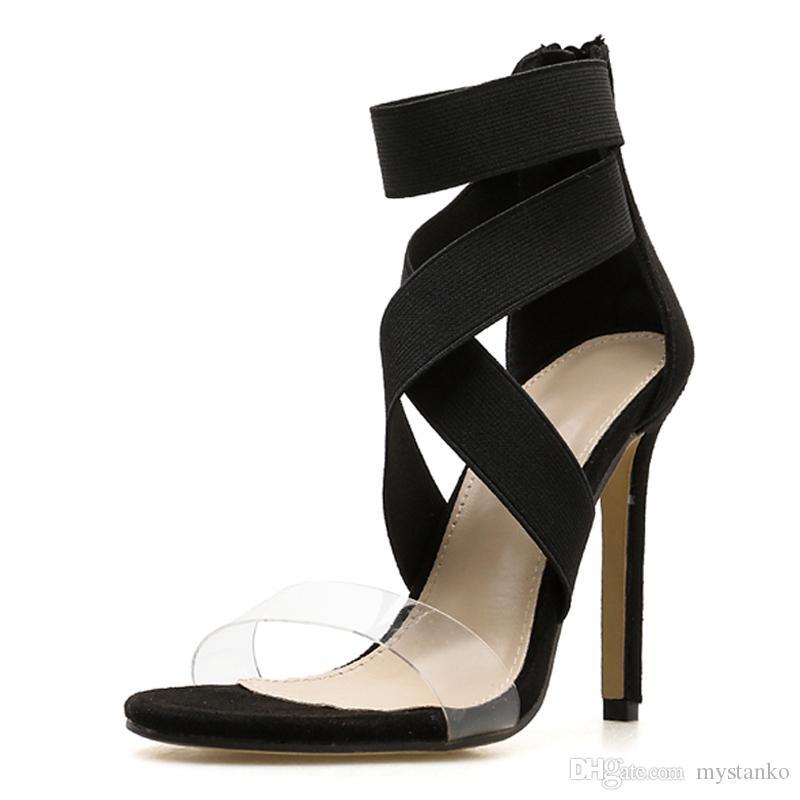 2fe72fde5b4a Women S Elastic Gladiator Sandals
