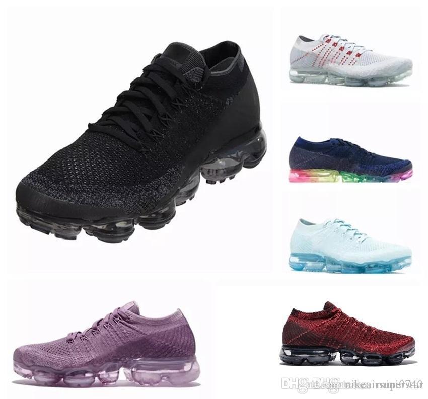nike vapormax 2019 Hot 28 couleur Hommes Femmes 2.0 2 Baskets de tennis blanc et blanc Baskets Plyknit Chaussures de sport Chaussures de sport. Taille