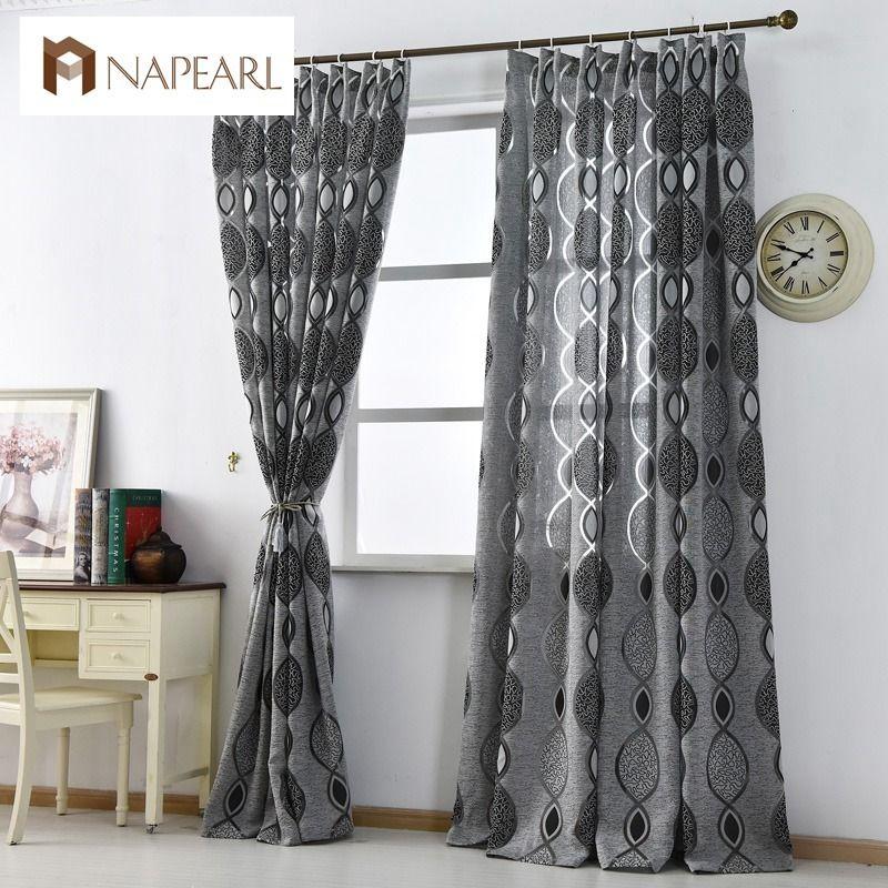 Modern Curtain Home Decoration Living Room Curtains Window Fabric Black  Ready Luxury Curtain Window Treatments Brand New Fashion