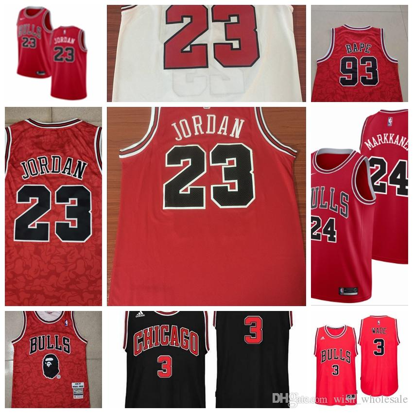 dec5c4914 2019 Chicago Michael Bulls Jersey Dennis Rodman Scottie Pippen MJ ...