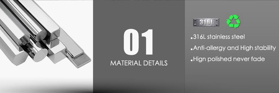 REAMOR 316L Acero Inoxidable Siete Anillos de Metal Anillos Masculinos Pulseras Suerte Negro Ancho Pulsera de Cuero Trenzada Joyería de Moda