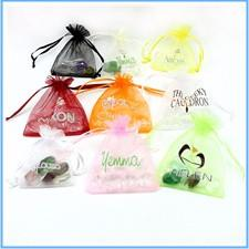 Heart Green Bronzing Organza Jewelry Packaging Gift Bags Wedding Gift Bags Large Tea Storage Sacks 7x9cm Wholesale