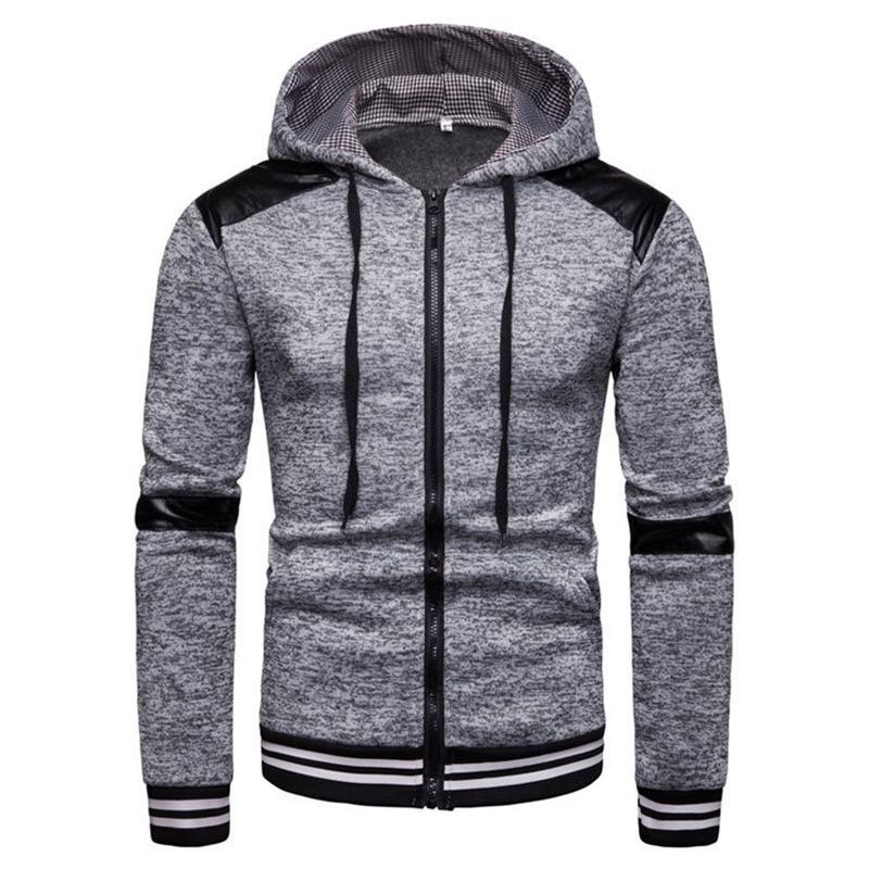 1f61dbf4b2 Compre 2019 Nova Moda Mens Hoodies Para Marca Homens Personalidade Zipper  Moletom Com Capuz Masculino Agasalho Sueter Hombre Moletom Com Capuz Mens  De ...
