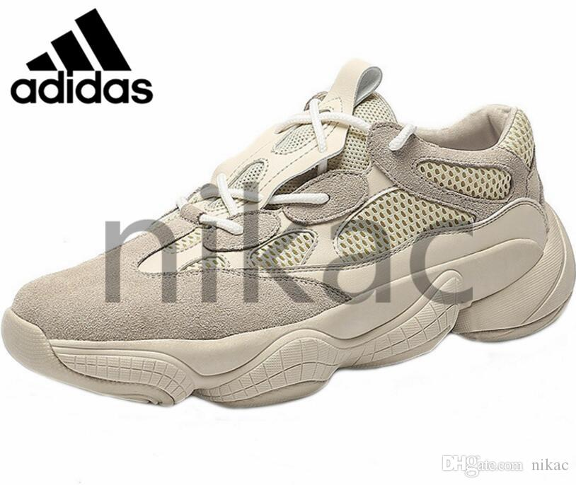 ae9dc3f64 2019 Original Adidas Air Yeezy 500 Athletic Running Shoes Luxury Designer  700 Blush Desert Rat Runner Kanye West 500s Super Moon Yellow Salt Utility  Black ...