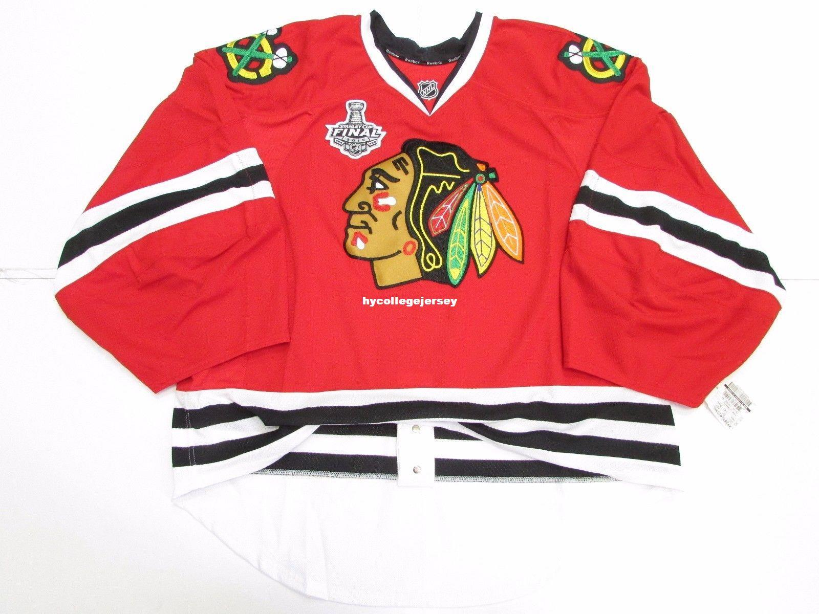 5f86cfe85 2019 Cheap Wholesale Custom CHICAGO BLACKHAWKS HOME 2015 STANLEY CUP EDGE  JERSEY GOALIE CUT 60 Mens Stitched Personalized Hockey Jerseys From ...