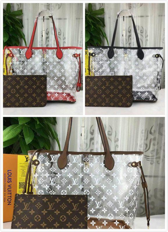 8944e718a04 Transparent Plastic Bag M40156 2019 WOMEN HANDBAGS ICONIC BAGS TOP HANDLES  SHOULDER BAGS TOTES CROSS BODY BAG CLUTCHES EVENING Messenger Bags For Women  ...