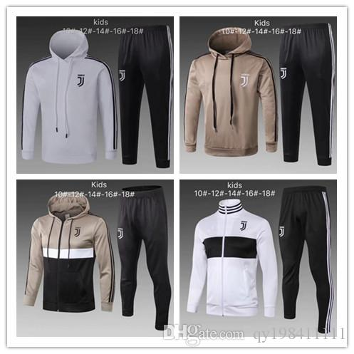 first look buy sale cheap prices 18 19 Juventus Kind Kapuzenpullover 2019 JUVE Jugendfußball Trainingsanzug  RONALDO DYBALA Trainingsanzug-Set