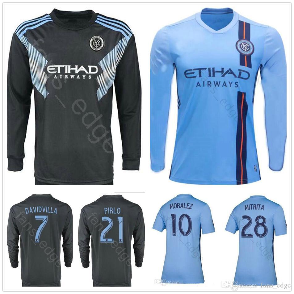 654fb7ac8f2 2019 2019 2020 New York City Long Sleeve Soccer Jerseys MITRITA MEDINA  LAMPARD MORALEZ MATARRITA PIRLO Custom NYC Home Blue Football Shirt From  Fans_edge, ...