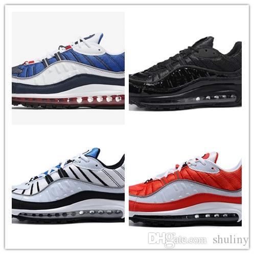 d31b4ad94bc36 Compre 2019 Barato Nuevo 98 Moda De Estilo Clásico Zapatos Para Hombre  Zapatos Deportivos Auténticos Amortiguador De Aire Zapatillas Altas  Zapatillas De ...