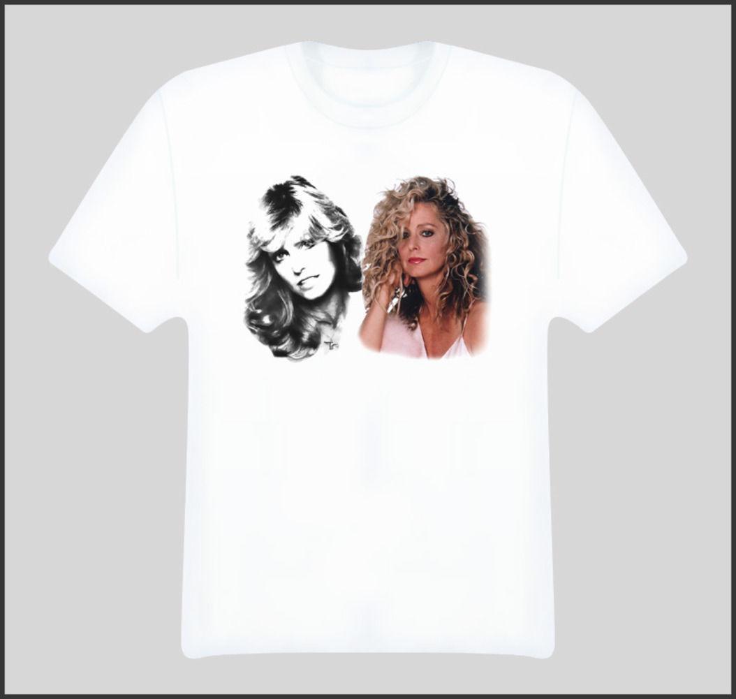 Farrah Fawcett Actress T Shirt Print Short Sleeve T Shirt Short Sleeved  Print Letters Rude T Shirt Shirt With T Shirt From Printforless51 429981aeeb4e