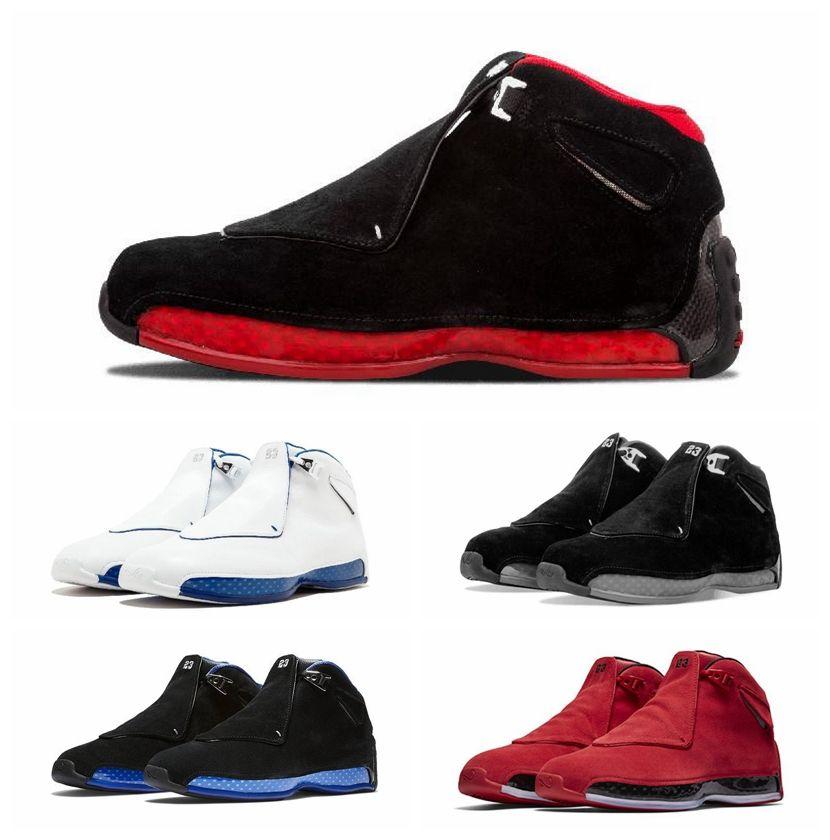 a9cb5bc4f3 Compre NIKE Moda XVIII 18 Zapatillas De Baloncesto Para Hombre Zapatillas De  Baloncesto Para Niños Jóvenes Toro OG ASG Negro Blanco Rojo Criado Azul  Real ...