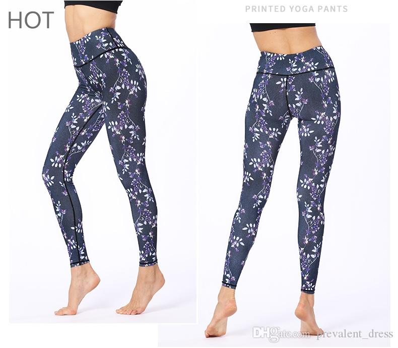179fecfe8d 2019 Printed Women Workout Leggings High Waisted Sports Wear Fitness  Multiple Patterns Sports Wear Women Yoga Tight Pants From Prevalent_dress,  ...