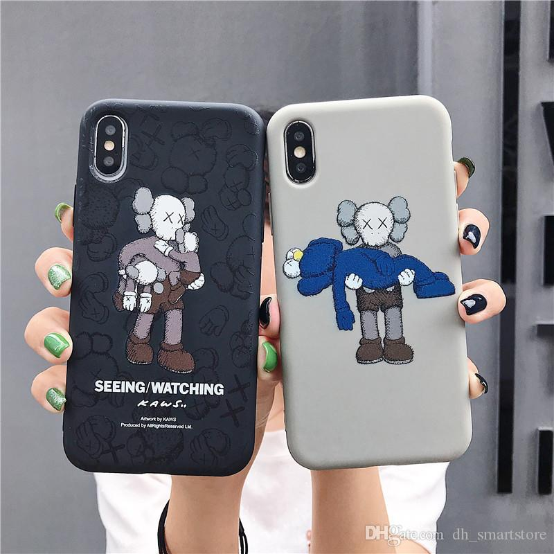 High quality Kaws Phone Case For Iphone X XS Max XR Soft Silicone Phone Cases For Apple iphone 6 7 8 6s Plus Soft Fashion Brand Cover