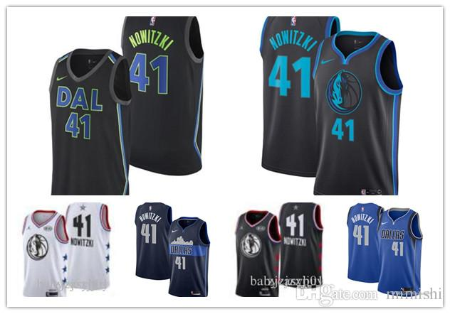 new styles 0580a ef811 2019 77 Doncic Mavericks Jersey The City Dallas 1 Smiths 41 Nowitzkis  Basketball Jersey NEW