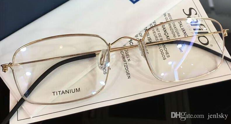 0f2e323fe9 MEN TITANIUM Glasses Eyeglasses Gold Frames Classic Eyewear Optical Frame  New with Box Online with  69.47 Piece on Jenlsky s Store