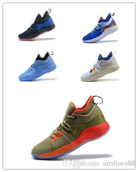 a8684b08f12 2019 High Quality Paul George 2 PG II Basketball Shoes For Cheap Top PG2 2S Starry  Blue Orange All White Black Sports Sneakers Mens Loafers Designer Shoes ...