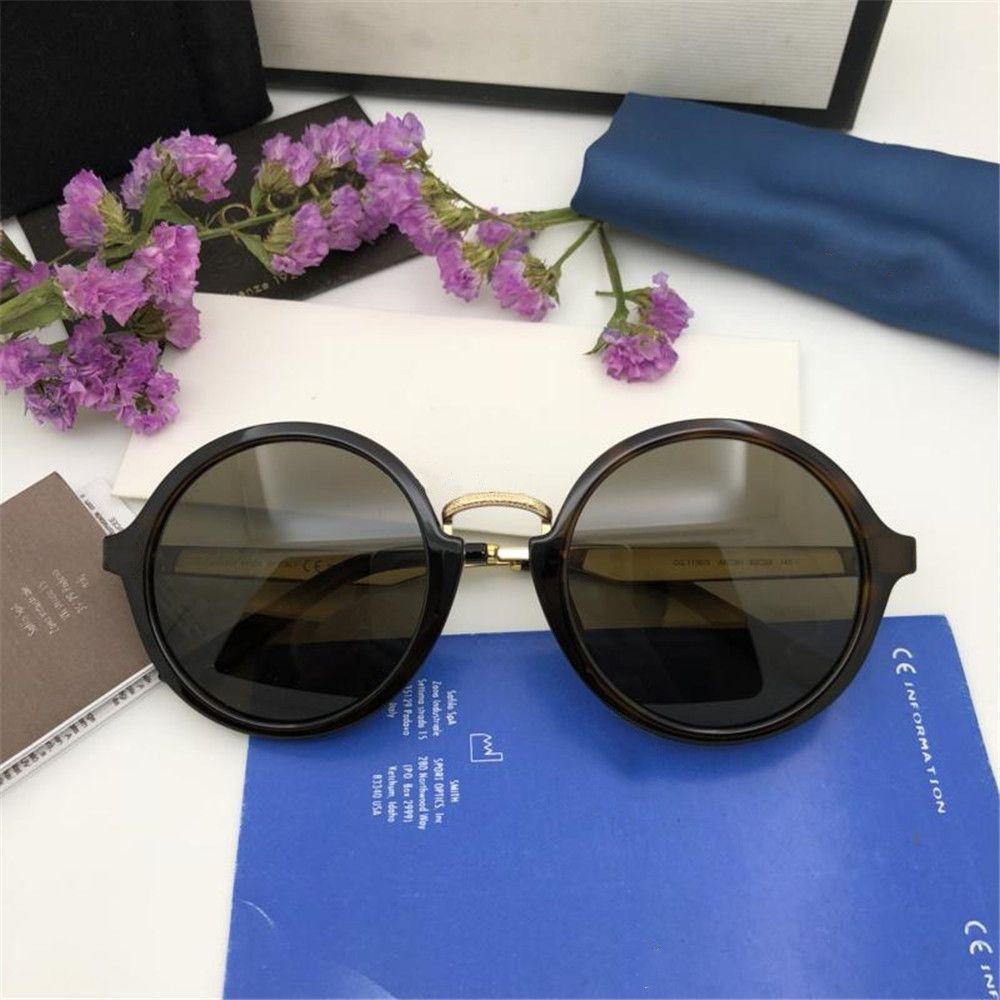 e14daec166 2019 Leopard Round Sunglasses Luxury Women Men Brand Designer Retro Full  Frame Glasses High Quality UV Protection Trendy Eyewear With Box Oversized  ...