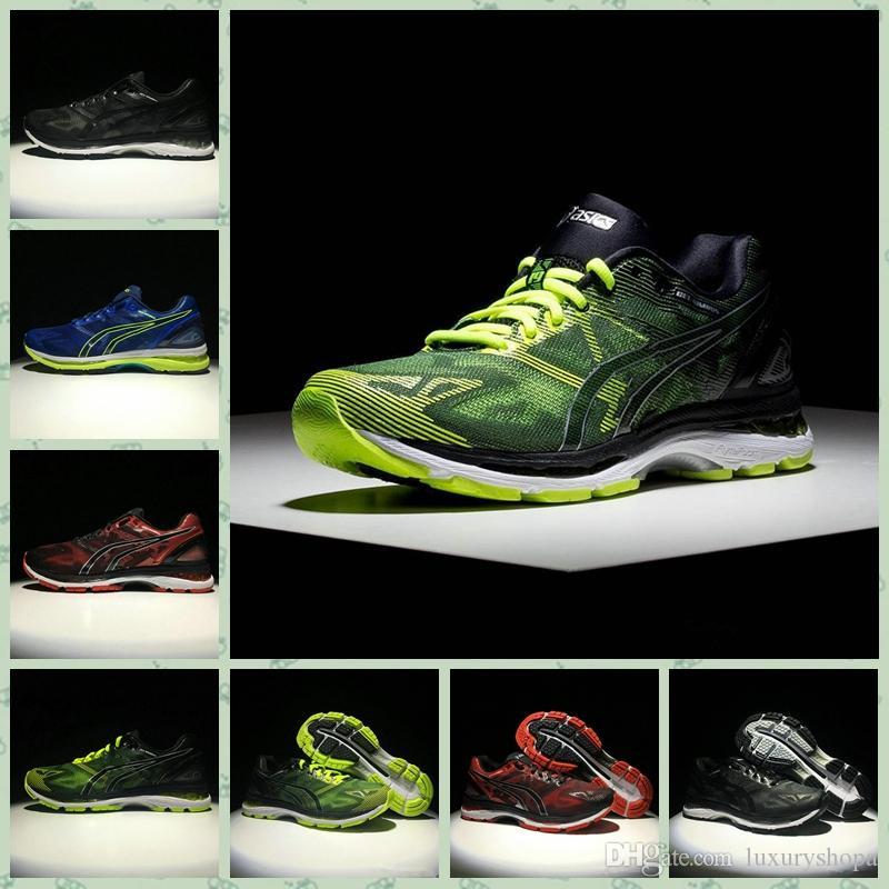 Asics GEL NIMBUS 19 2019 GEL NIMBUSS 19S Hommes Chaussures De Course Noir Gris Bleu Original Pas Cher Jogging Baskets Designer Chaussures De Sport