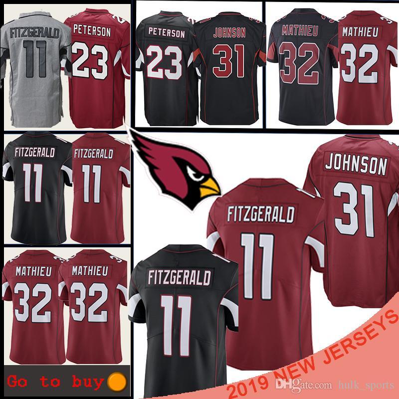 the latest 48457 729bf 31 David Johnson Arizona 1 Kyler Murray Cardinal jersey 21 Patrick Peterson  11 Larry Fitzgerald 13 Kurt Warner football jerseys