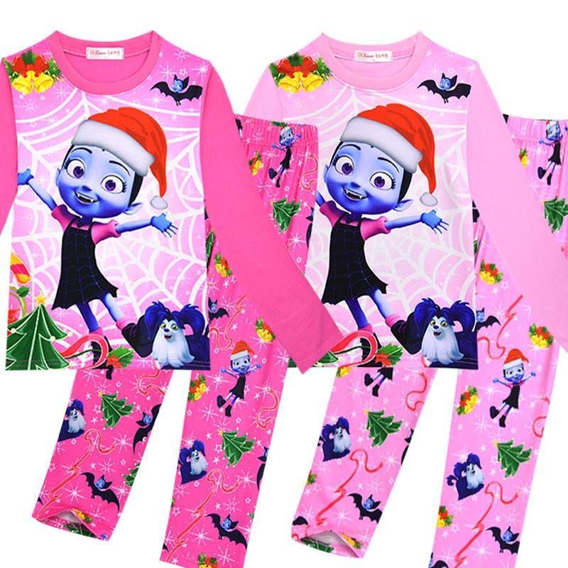 fe93eedca652 Kids Vampire Pajamas Christmas Vampire Girls Print Sleepwear Girl ...