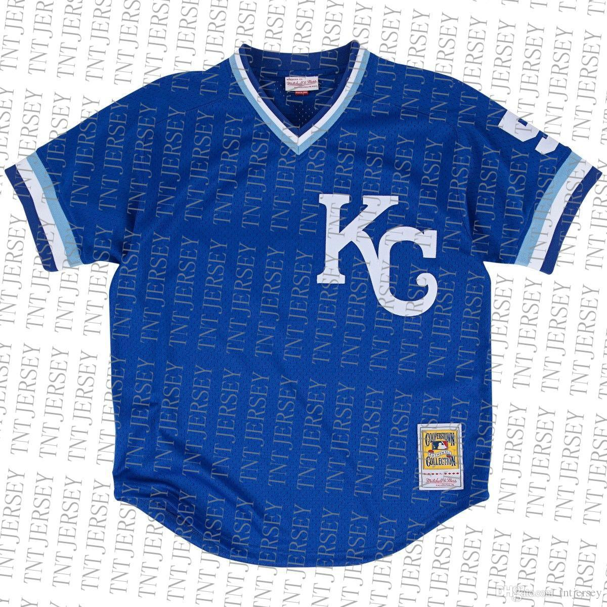 100% embroidery custom George Brett 1989 BP Jersey Stitch customize any number name MEN Jerseys XS-5XL NCAA JERSEY