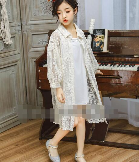 b2b4ce5ab 2019 Wholesale 100 140 Spring Girls Children Clothes Korean Version Style  Pure Cotton Lace Long Shirt Strap Two Piece C1 Little Boys Jackets Childrens  ...
