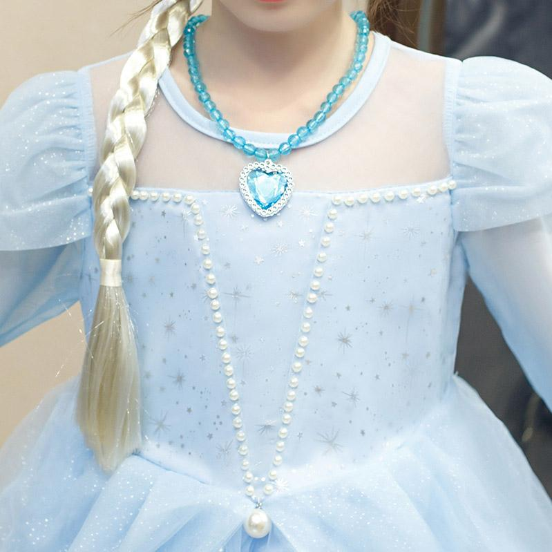 Kids Designer Dress New Ice Princess Aisha Skirt Girls Brand Dress Lace Pearl Princess Dress Evening Dresses High Quality 2019 Autumn