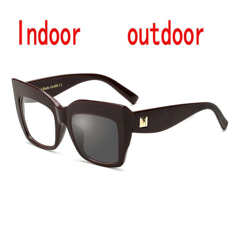 fab468759a3d Cat Glasses Frame Men Women Finished Sun Photochromic Myopia Optical ...