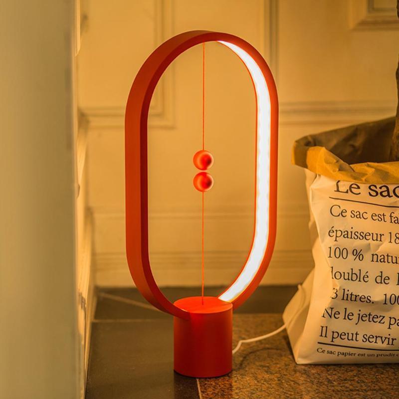 Usb Table Lamp Gift Light Balance For Dropship Decor Novel Home Led Megnetic Office Heng Bedroom Night Powered Kids iPkZXuOT