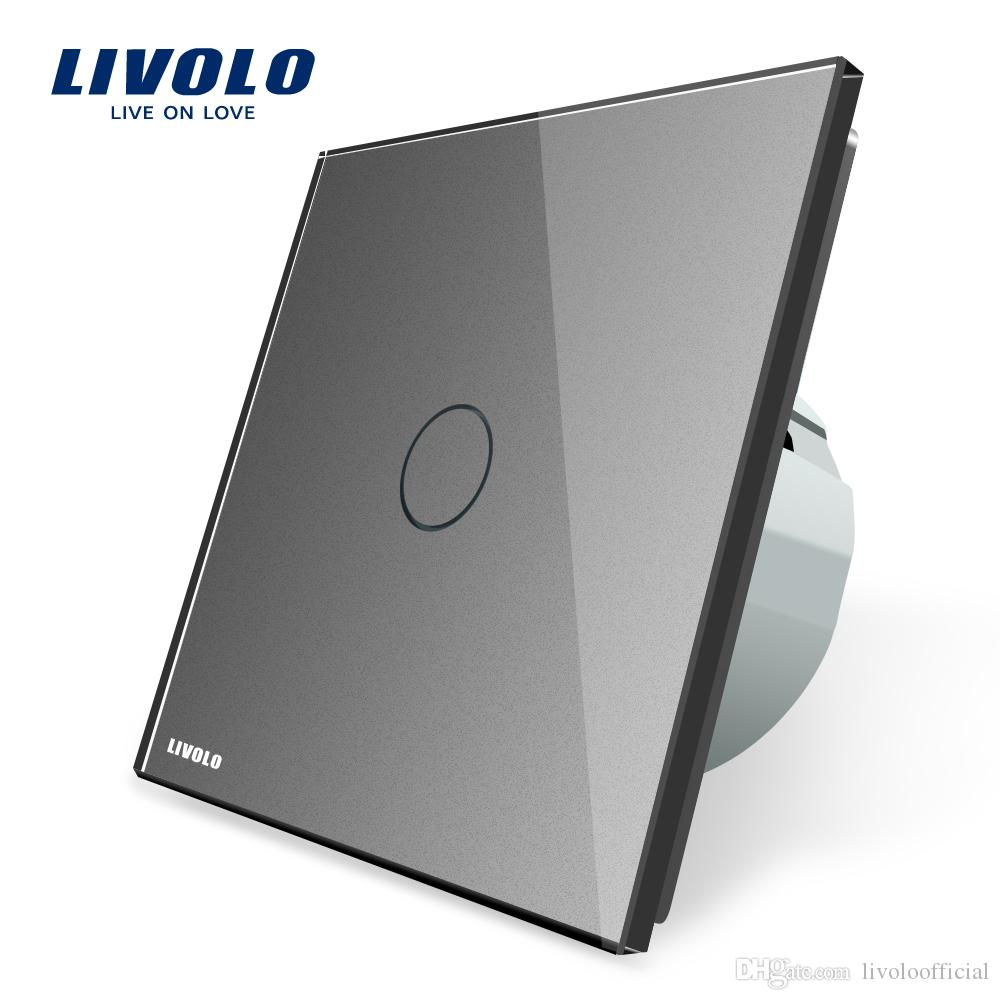 Livolo The Base of Touch Screen Wall Light Switch EU Standard AC 220~20~250V 1 Gang Switch 8 Functions