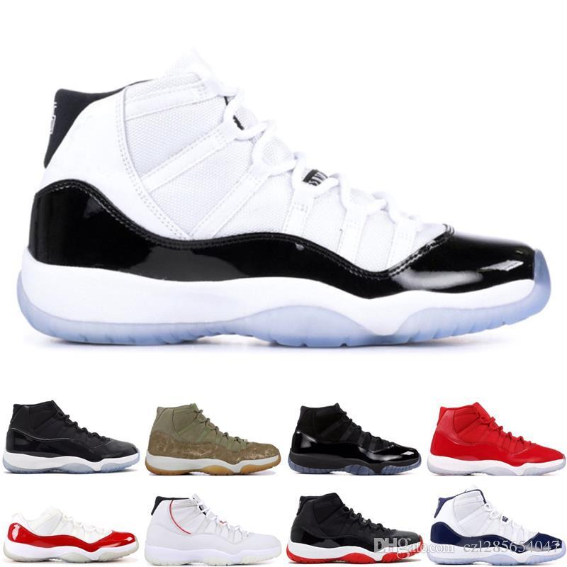 buy online b73c7 fe5ca Platinum Tint Concord 45 Prom Night 11 Bred Win like 82 96 Basketball Shoes  Men Gym Red Sport Sneaker 11s Concords Sneakers With Box Basketball Shoes 11  ...