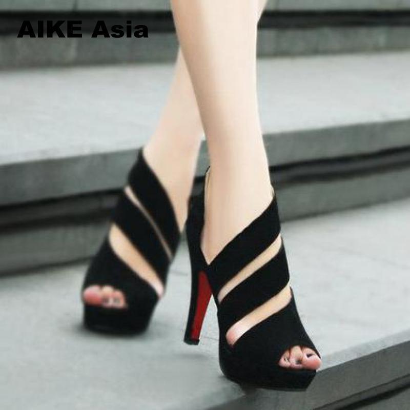 Casual Feminina De Toe Altos Peep Tacones Zapatos Sandalias Plataforma Diseñador Verano Vestir Gladiador Sandalia Hot Mujer A 2019 W2HED9I