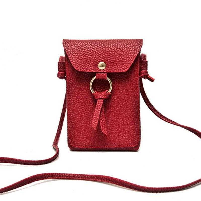 2019 New Arrival Pu Leather Tassel Phone Bag Vintage Shoulder Bags  Crossbody Bags For Women Mini Messenger Bag Casual Gifts Branded Bags  Leather Backpacks ... 0b9ca98320948
