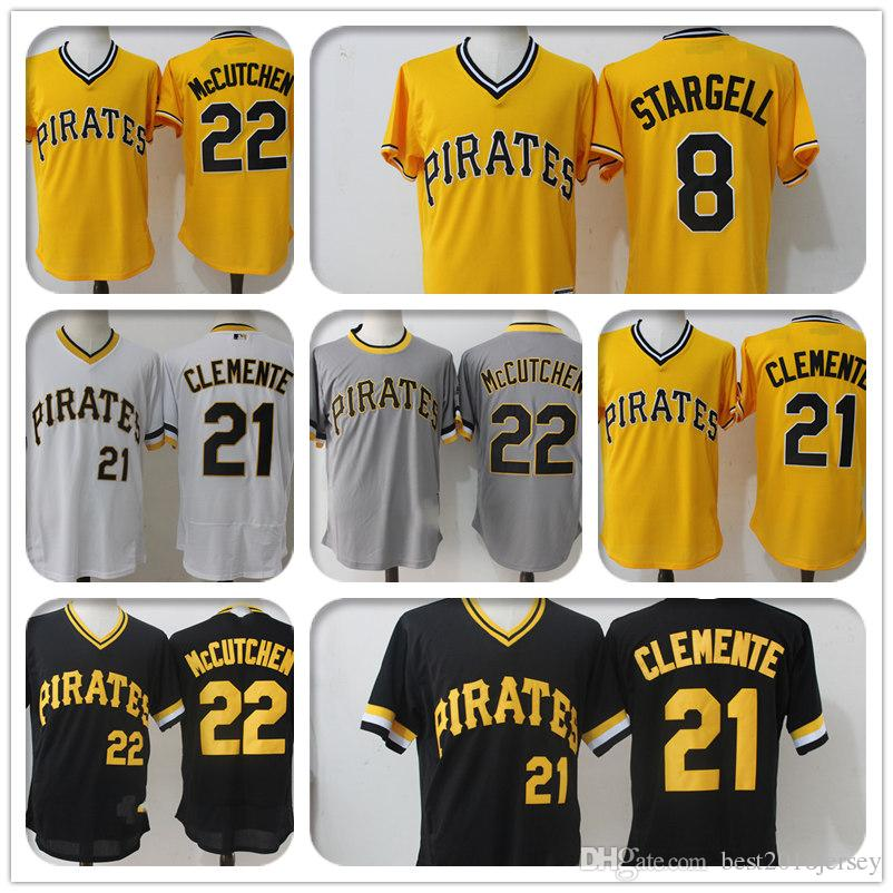 4ee9e620d2d ... sweden 2019 pittsburgh pirates 21 roberto clemente jersey jersey 22 29  francisco cervelli 8 stargell majestic